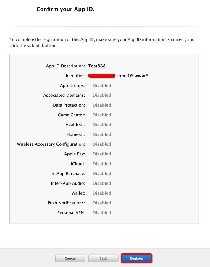 注册你的App ID